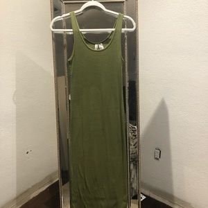 H&M long ribbed tank dress